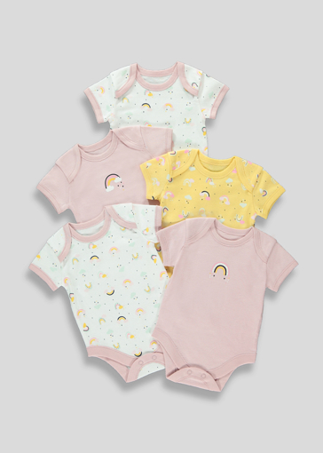 Picture of Girls 5 Pack Rainbow Bodysuits (Newborn-23mths)